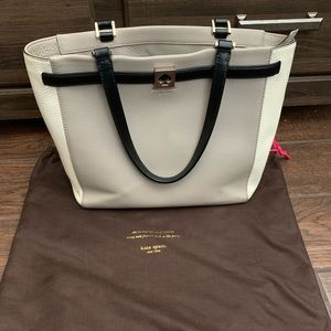 Kate Spade Bag- grey and off white